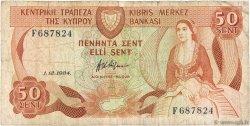 50 Cents CHYPRE  1984 P.49a pr.TB