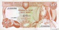 50 Cents CHYPRE  1987 P.52 TTB+
