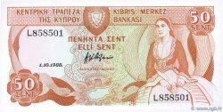 50 Cents CHYPRE  1988 P.52 pr.NEUF