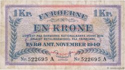 1 Krone ÎLES FEROE  1940 P.09 TB+