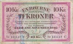10 Kroner ÎLES FEROE  1940 P.11a TB