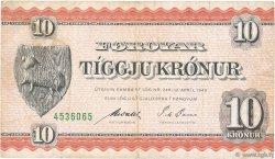 10 Kronur ÎLES FEROE  1954 P.14c pr.TTB