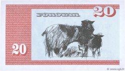 20 Kronur ÎLES FEROE  1986 P.19a SPL
