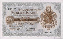 50 Pence ÎLES FALKLAND  1969 P.10a NEUF