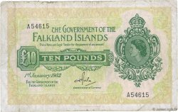 10 Pounds ÎLES FALKLAND  1982 P.11b B+