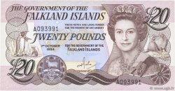 20 Pounds ÎLES FALKLAND  1984 P.15a SPL+