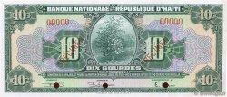 10 Gourdes HAÏTI  1951 P.181s pr.NEUF