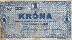 1 Krona ISLANDE  1922 P.18a TTB