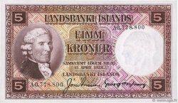 5 Kronur ISLANDE  1921 P.27b NEUF