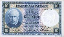 10 Kronur ISLANDE  1928 P.28a SPL