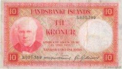 10 Kronur ISLANDE  1943 P.33a TB