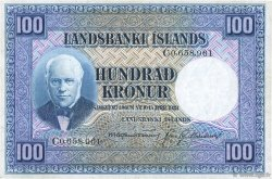 100 Kronur ISLANDE  1943 P.35b TTB