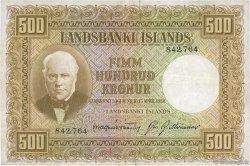 500 Kronur ISLANDE  1943 P.36a TTB
