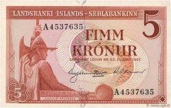 5 Kronur ISLANDE  1957 P.37b SUP