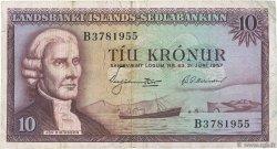 10 Kronur ISLANDE  1957 P.38a TTB
