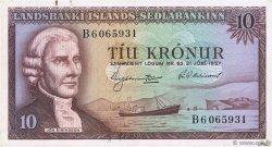 10 Kronur ISLANDE  1957 P.38b SUP