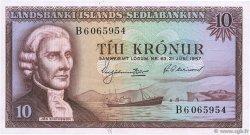 10 Kronur ISLANDE  1957 P.38b pr.NEUF