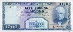 1000 Kronur ISLANDE  1957 P.41 TTB+