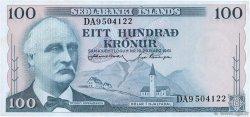 100 Kronur ISLANDE  1961 P.44a pr.SUP