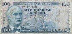 100 Kronur ISLANDE  1961 P.44a B+