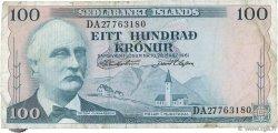 100 Kronur ISLANDE  1961 P.44a TB+