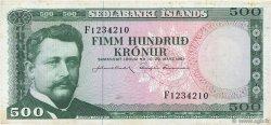 500 Kronur ISLANDE  1961 P.45a TTB