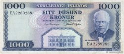 1000 Kronur ISLANDE  1961 P.46a TTB