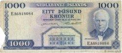 1000 Kronur ISLANDE  1961 P.46a TB