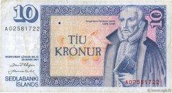 10 Kronur ISLANDE  1961 P.48a TB+