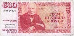 500 Kronur ISLANDE  1961 P.51a TB