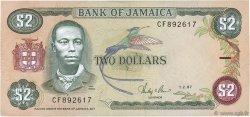 2 Dollars JAMAÏQUE  1987 P.69b pr.SUP