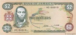2 Dollars JAMAÏQUE  1993 P.69e SUP