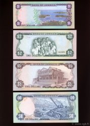 1,2, 5 et 10 Dollars JAMAÏQUE  1977 P.CS02 pr.NEUF