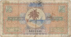 1/2 Rupee MALDIVES  1947 P.01 pr.TB