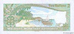 2 Rufiyaa MALDIVES  1983 P.09a SPL