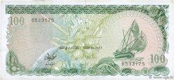 100 Rufiyaa MALDIVES  1987 P.14b TTB