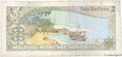 2 Rufiyaa MALDIVES  1990 P.15 TB
