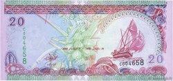 20 Rufiyaa MALDIVES  2000 P.20b pr.NEUF