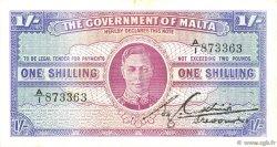1 Shilling MALTE  1943 P.16 TTB