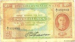 2 Shillings MALTE  1942 P.17a TB