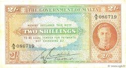 2 Shillings MALTE  1942 P.17c TB+
