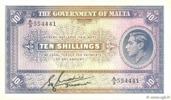 10 Shillings MALTE  1940 P.19 pr.SUP