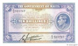 10 Shillings MALTE  1940 P.19 pr.NEUF