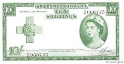 10 Shillings MALTE  1954 P.23a pr.SUP