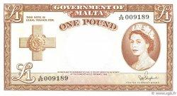 1 Pound MALTE  1954 P.24b TTB+