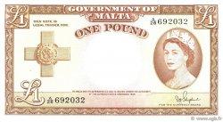 1 Pound MALTE  1954 P.24b SUP
