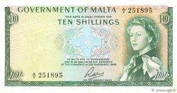10 Shillings MALTE  1963 P.25a TTB