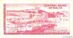 10 Shillings MALTE  1968 P.28a pr.TTB