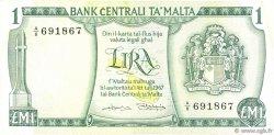 1 Lira MALTE  1973 P.31b TTB