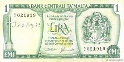 1 Lira MALTE  1973 P.31d TB